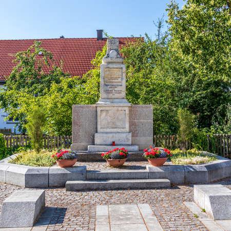 Municipal Germering, District Fuerstenfeldbruck, Upper Bavaria, Germany: Ehrendenkmal, Soldier Monument 新闻类图片
