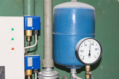 Main Pumping Station, Hot Water, Air Pressure Sensor Stock Photo ...