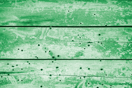 textured background of old wooden barn boards of different colors. square photo with copy space for text Banco de Imagens