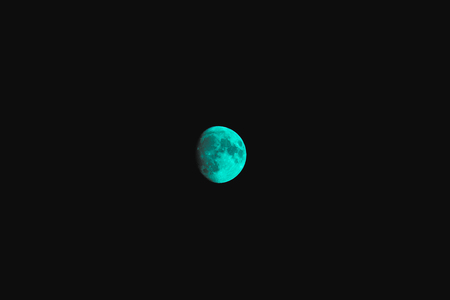 beautiful moon shining on black sky background