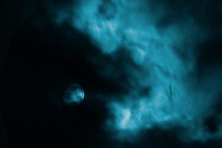 moon under a dark cloud, night sky, background