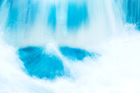 water closeup, background image of a waterfall, rest and travel 免版税图像