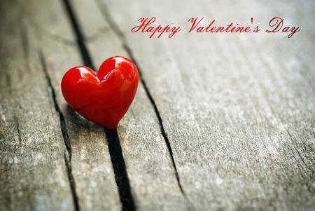 Valentines Day background with heart. Standard-Bild
