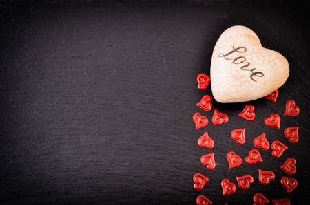 dia: Fondo del día de San Valentín con el corazón.