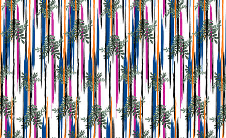endless continuing, consisting of various objects, textile printing pattern