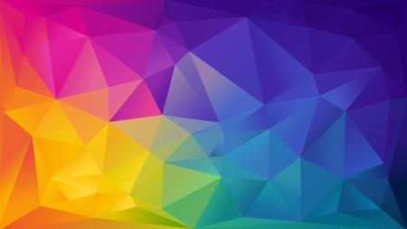 barvy: Abstraktní duha na pozadí se skládá z barevných trojúhelníků Ilustrace