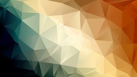 Abstract background consisting of colored triangles in retro colors Illustration