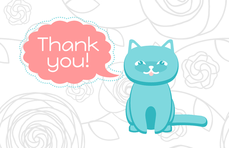 agradecimiento: Gracias tarjeta con un gato