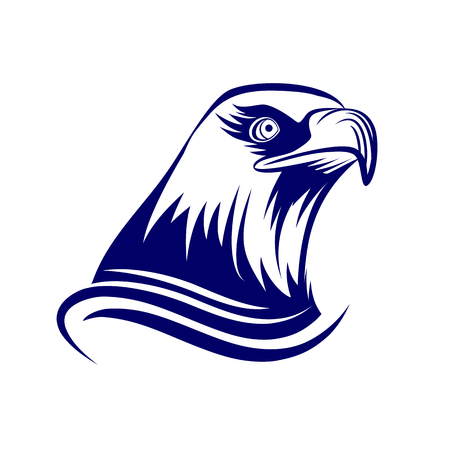 adler silhouette: Head of eagle, isoliert auf weißem Hintergrund