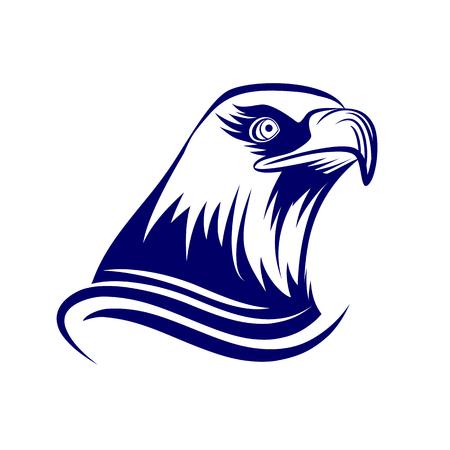 aguila americana: Jefe del águila, aislado en fondo blanco Vectores