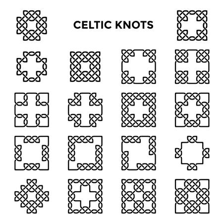 celtic: Square celtic knots, celtic frames, vector illustration Illustration