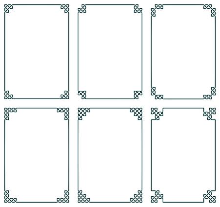 keltische muster: Sammlung von sechs keltischen Rahmen, Vektor-Illustration
