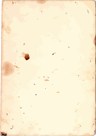 Old paper texture, grunge stained piece of paper Illustration