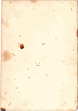 Vieja textura de papel, grunge manchado hoja de papel
