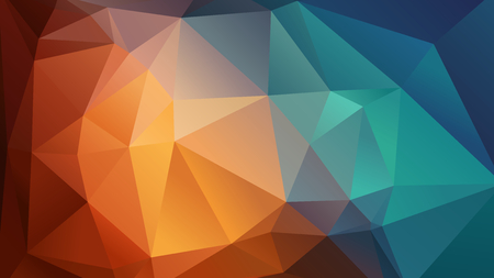 blue background: Abstract vector geometric wallpaper consists of triangles Illustration
