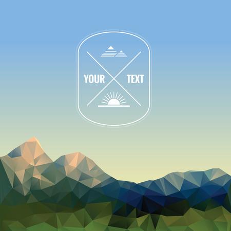 Illustratie van lage veelhoekige bergen, vector achtergrond