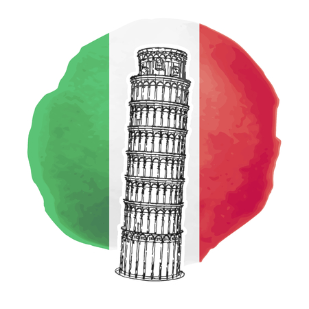 leaning tower: Illustration of the Leaning Tower of Pisa