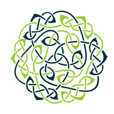 Grote keltische knoop, keltische ornament, vector illustratie Stock Illustratie