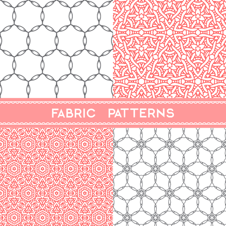 fabric patterns: Collection of fabric patterns, seamless  textile patterns