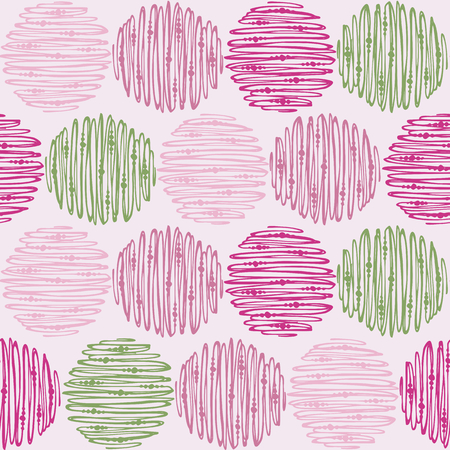 Seamless doodle pattern. Tileable background for textile, wrapping paper and cloth. Illustration