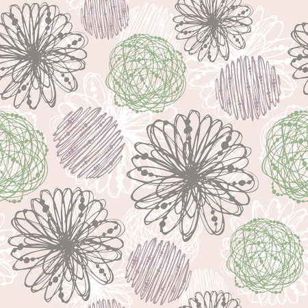 tileable background: Seamless doodle pattern. Tileable background for textile, wrapping paper and cloth. Illustration