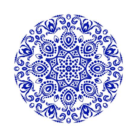 Eenvoudige ronde ornament, decoratie voor ontwerp Stock Illustratie