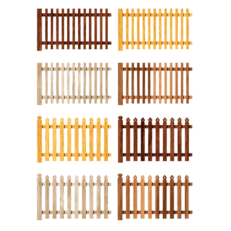 Eight sections of the fence, vector illustration