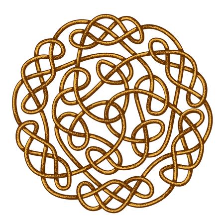 nudos: Céltico del nudo grande, ornamento céltico, ilustración vectorial