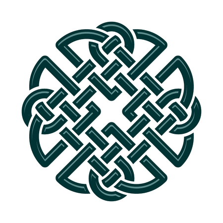 Celtic Dara knot, symbol of strength. isolated on white Stock Illustratie