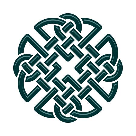 nudo: Celtic Dara nudo, s�mbolo de fuerza. aislado en blanco Vectores