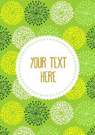 a5: Doodle design for A5 flyer or greeting card Illustration