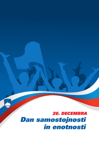 december background: 26 December - Independence and Unity Day in Slovenia, flyer background