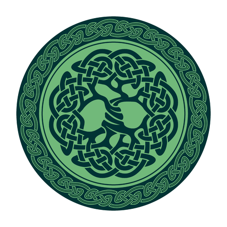 Illustration of celtic tree of life,  vector illustration Иллюстрация