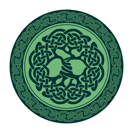 nudos: Ilustración del árbol de la vida céltico, ilustración vectorial