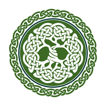 circles: Illustration of celtic tree of life,  vector illustration Illustration