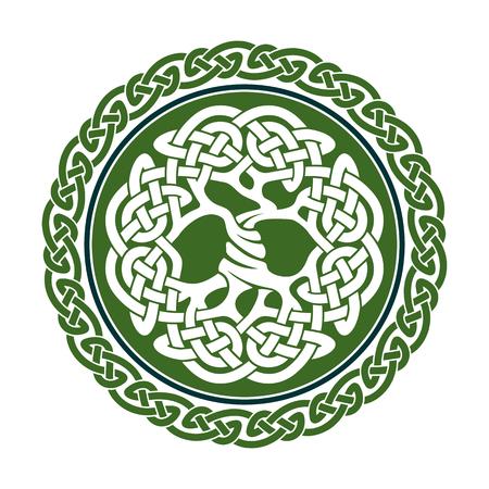 Ilustración del árbol de la vida céltico, ilustración vectorial