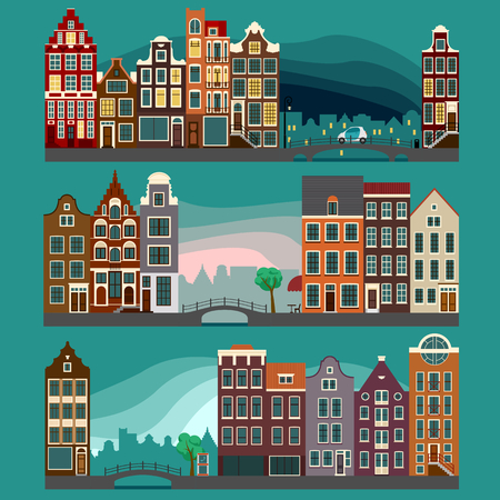 urban landscapes: Urban landscapes with old european houses, city streets
