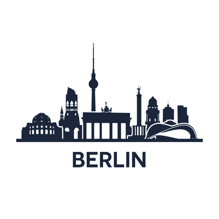 Abstract skyline of city Berlin, vector illustration