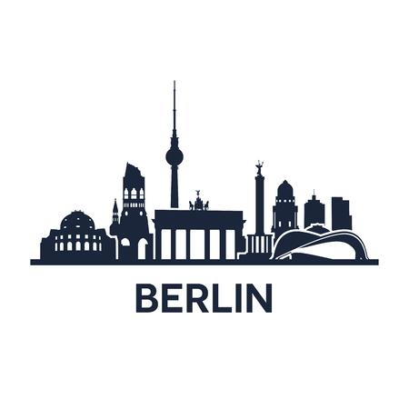 Abstract skyline of city Berlin, vector illustration
