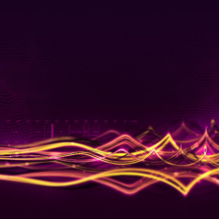 abstract waves: Abstract light waves background. Light waves concept. Electromagnetic spectrum.