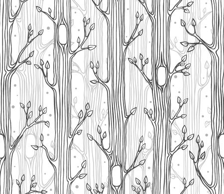 Ilustración Vectorial De Ramas De Los árboles De Fondo Ilustraciones ...
