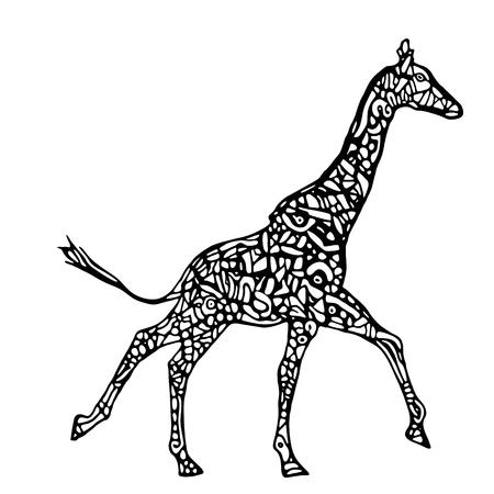 running: Running giraffe Illustration