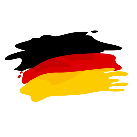 germany: flag of Germany. Flag of Germany in pseudo watercolor style isolated on white background.