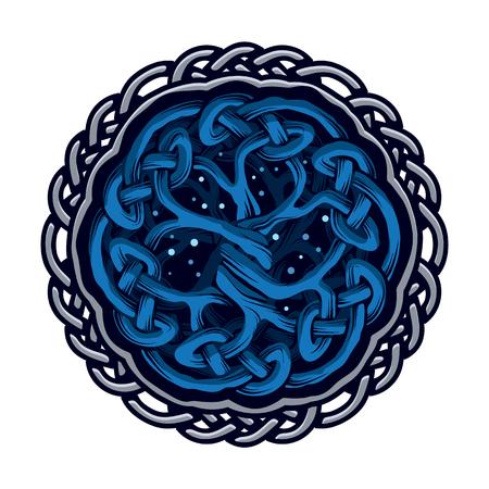 Ilustración del árbol de la vida céltico, el concepto étnico, ilustración vectorial