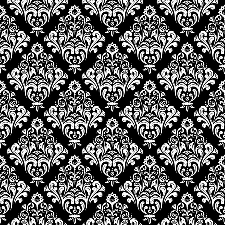 retro patterns: Damask wallpaper background