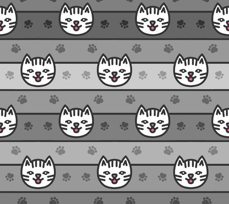 Nahtlose Muster der Katzen Köpfe