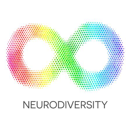 Neurodiversitätssymbol. Regenbogen Infinity Loop. Standard-Bild - 74959964