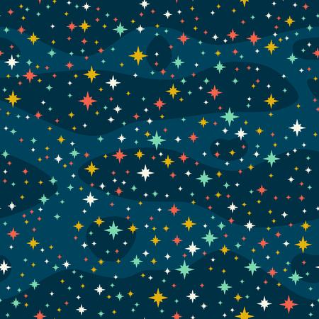 Sterne am Himmel  Illustration