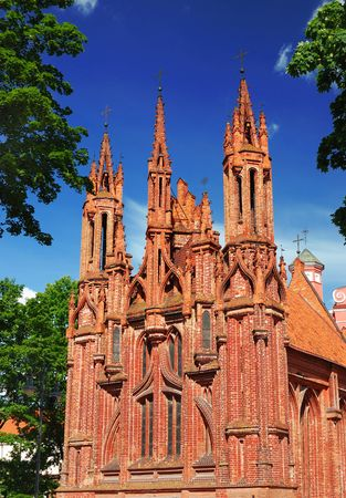 lithuania: st Annes church in Vilnius, Lithuania
