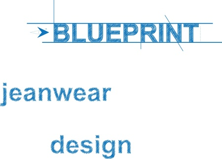 bluerprint font style Stock Vector - 10030841